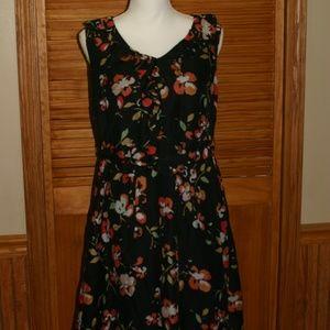 Black Multicolored Floral Dress